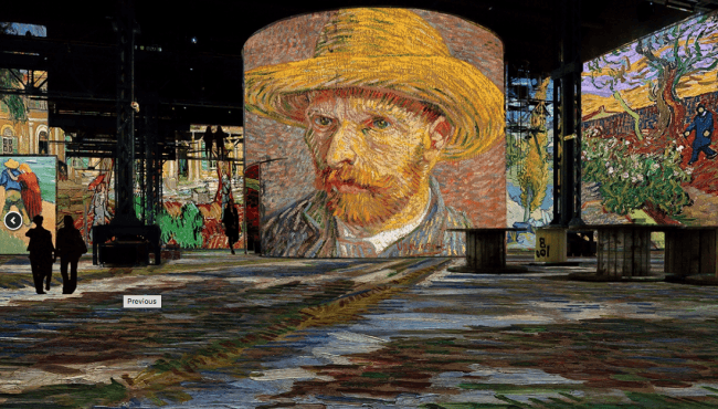 Van Gogh, La Nuit Etoilée : the new exhibition at Atelier des Lumières